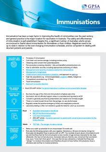 Immunisation & Vaccination