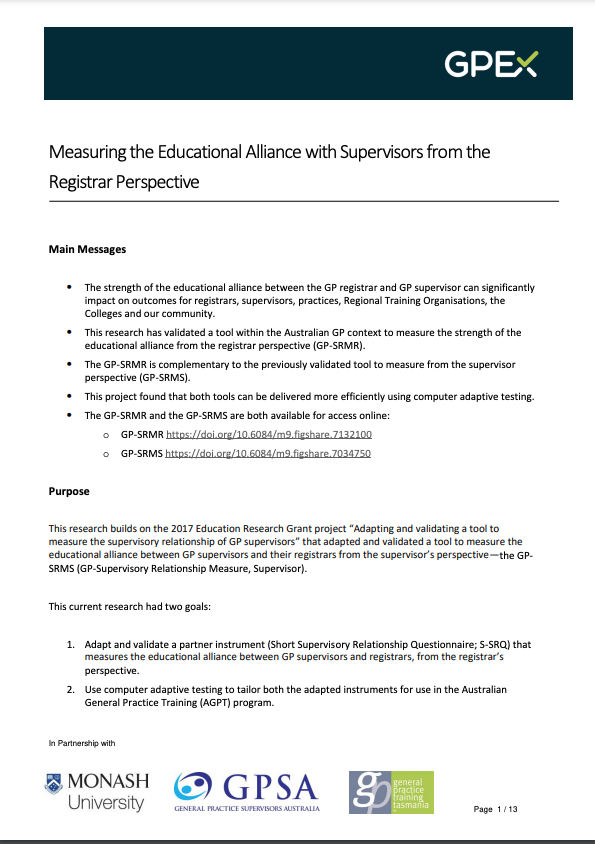 Educational Alliance Registrars Research