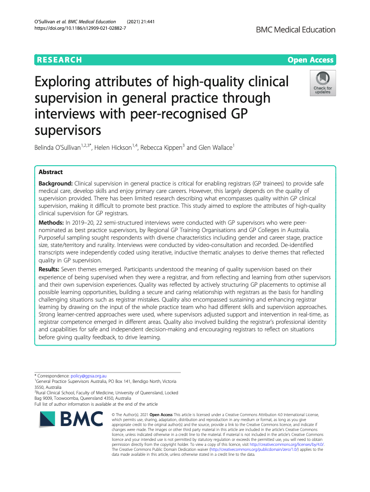 Exploring Attributes high quality GP Supervision