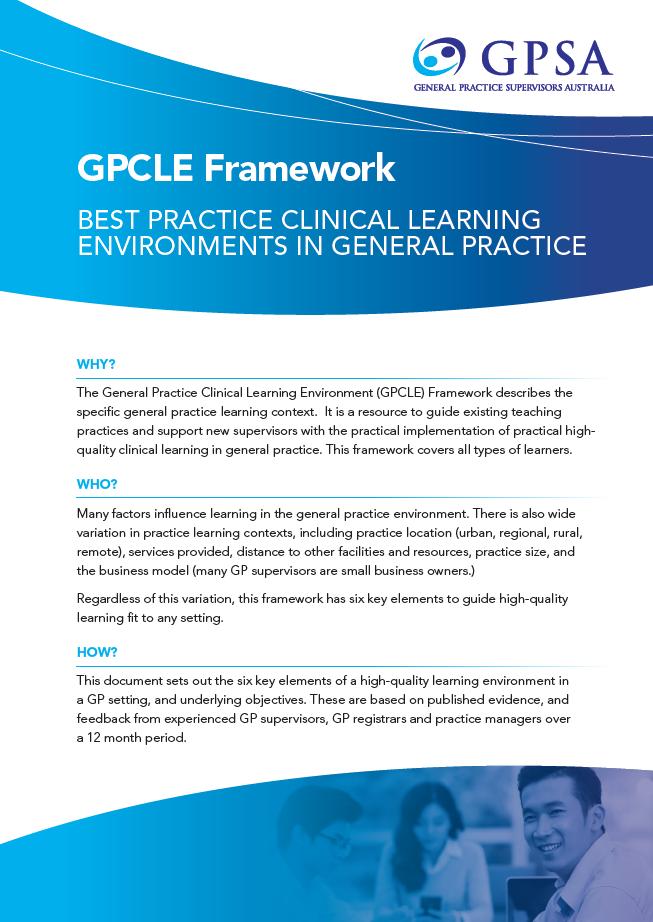 GPCLE Framework Cover